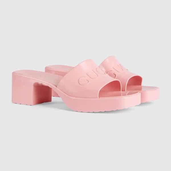 Women's Rubber Slide Sandal, £265, Gucci baby pink