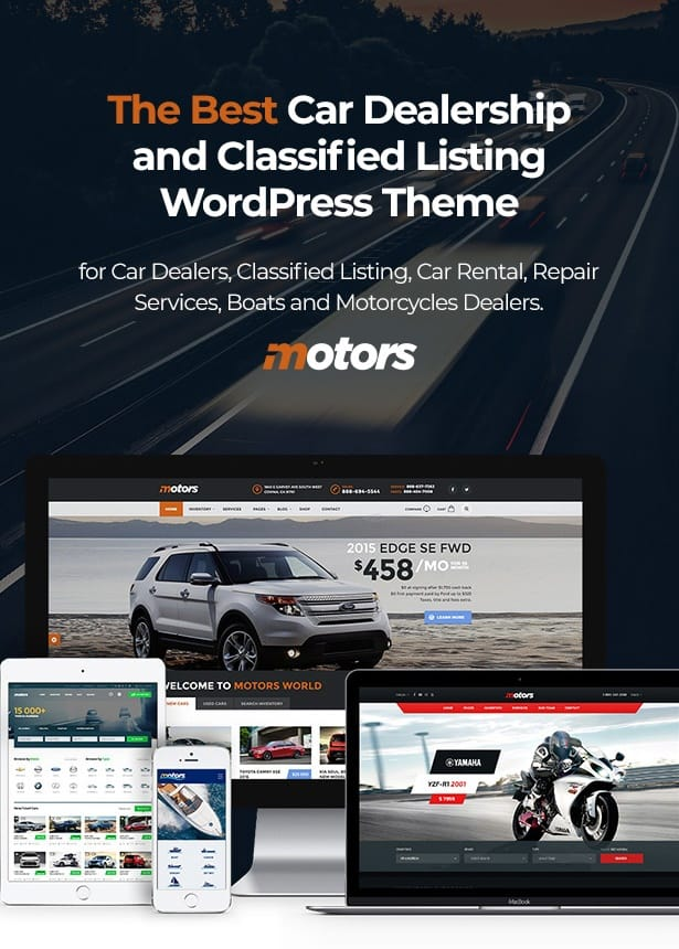 Motors WordPress Theme for Car Dealer, Rental & Classifieds site
