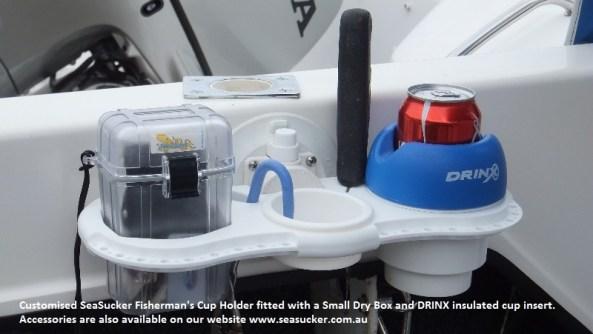 SeaSucker Fisherman's Cup Holder in boat