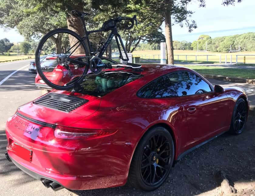 Porsche Carrera GTS Bike Rack - The SeaSucker Mini Bomber
