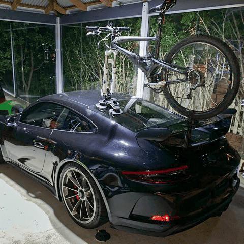 Porsche GT3 with SeaSucker Talon 1-Bike Rack