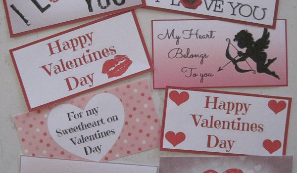 Valentines dat gift tags