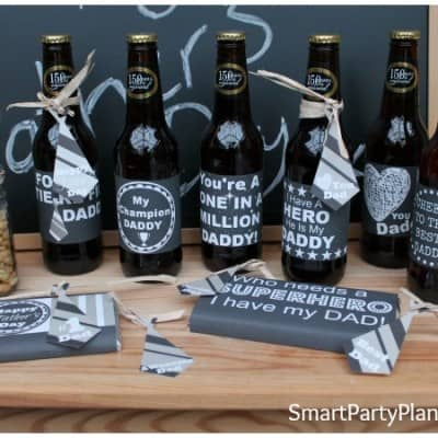Fathers Day Printables – Chalk Board Labels