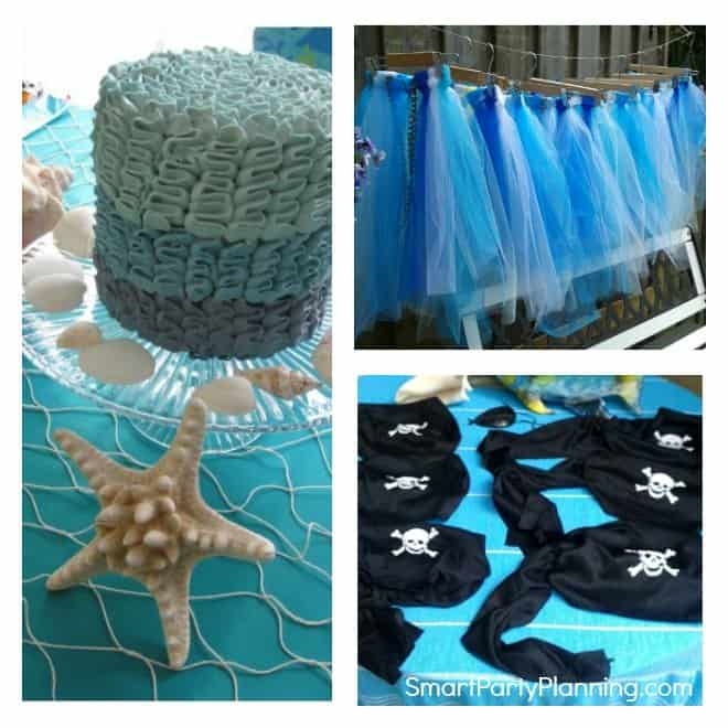 Easy Mermaid and pirate party