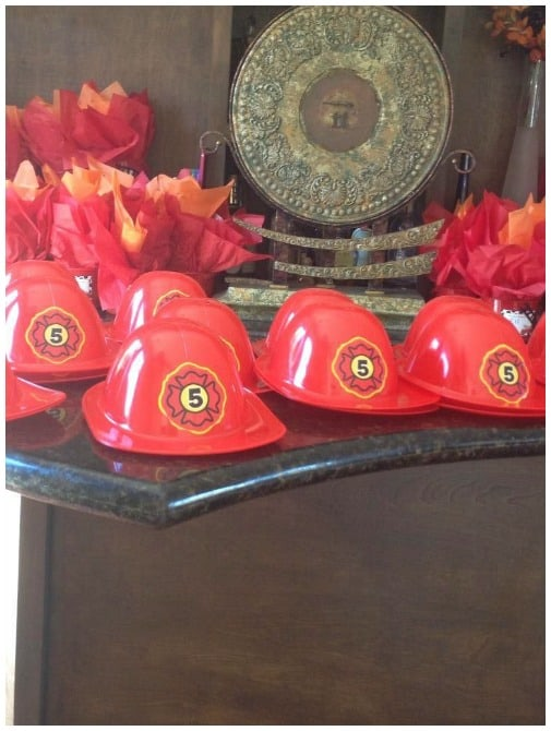 firetruck birthday party hats