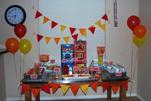 Budget fireman birthday party