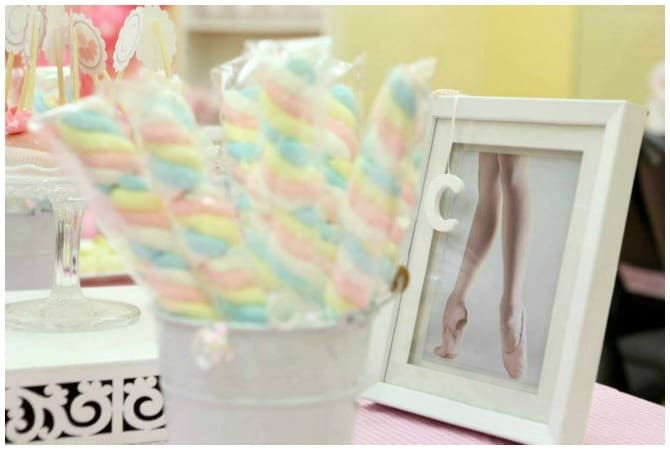 Ballerina Birthday Party Candy