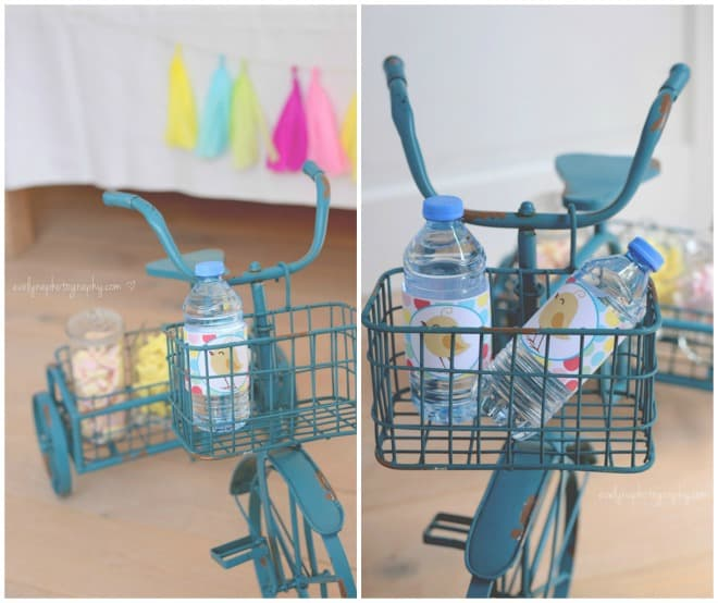 Bike and printable water bottle labels