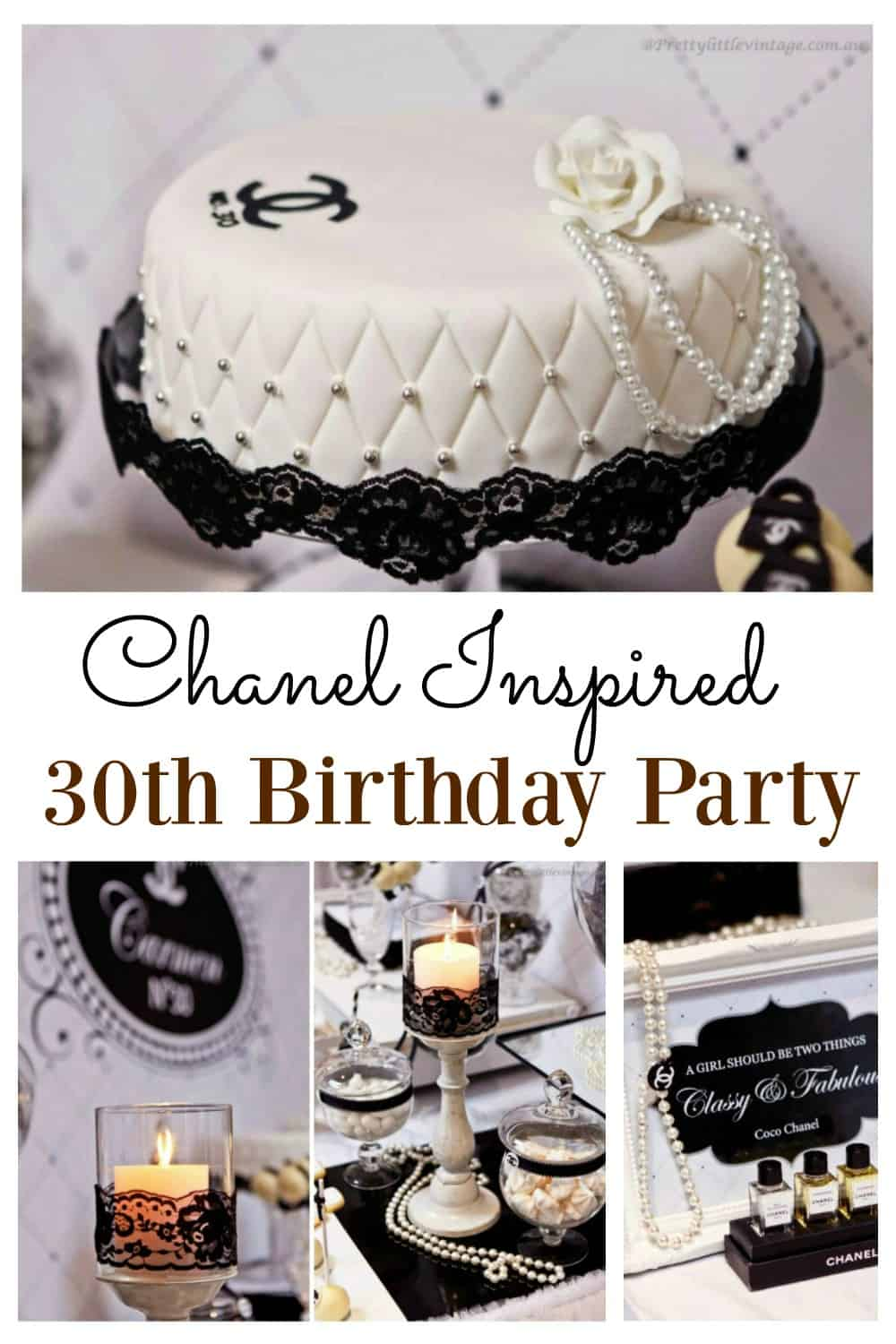 If you are looking to organize a Chanel inspired party, this 30th birthday party will provide a ton of inspiration. It has everything you need for an elegant party vibe with an awesome idea for the favour bags!
