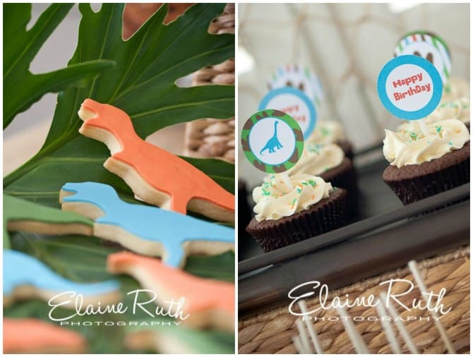 Dinosaur Cookies and cupcakes