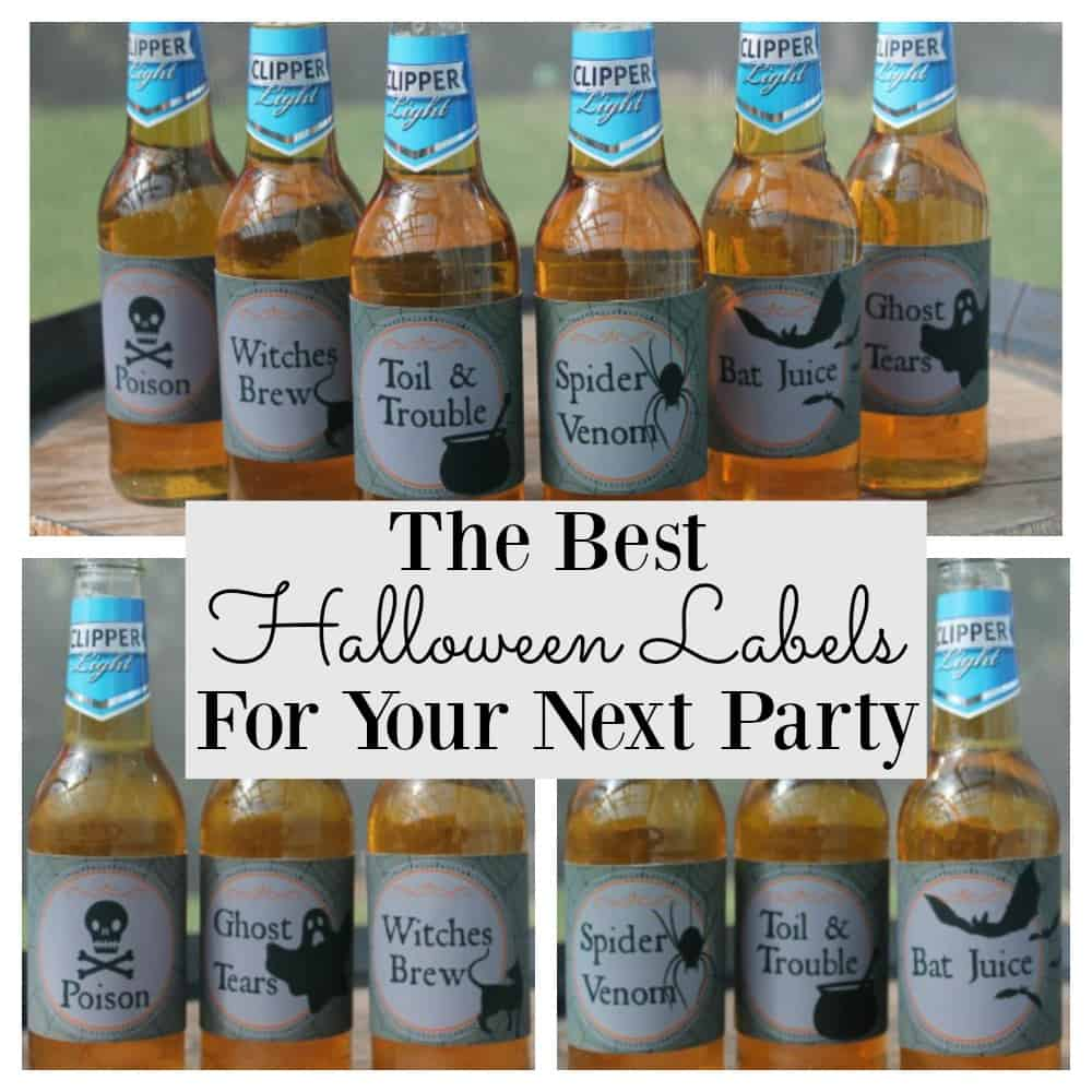 Printable Halloween labels are perfect for beer, water or soda bottles. An essential DIY Halloween party supply decoration that all guests will love.