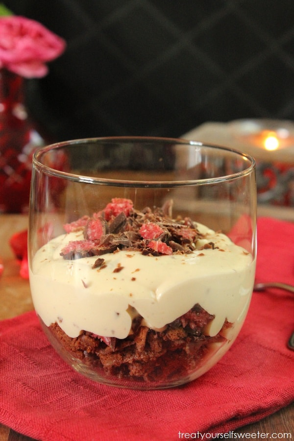 No Bake Cherry Ripe & Tim Tam Cheesecake… for two