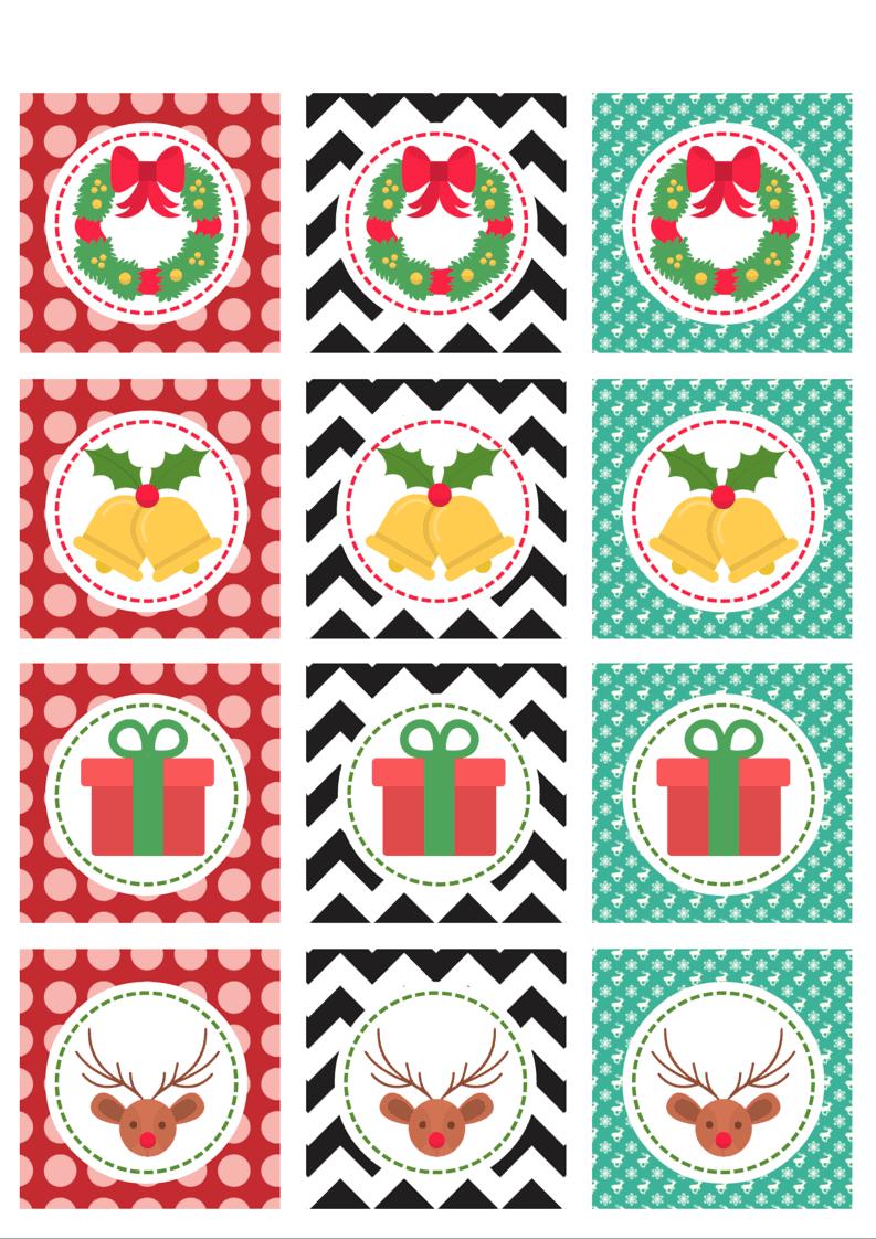Christmas cupcake toppers 3