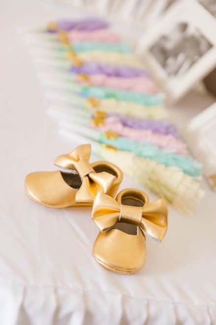 Gold Baby Slippers