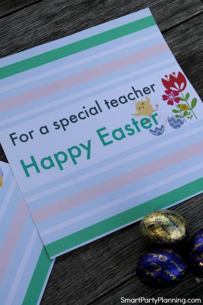 For a special teacher printable