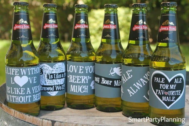 Beer Labels for Valentines Day