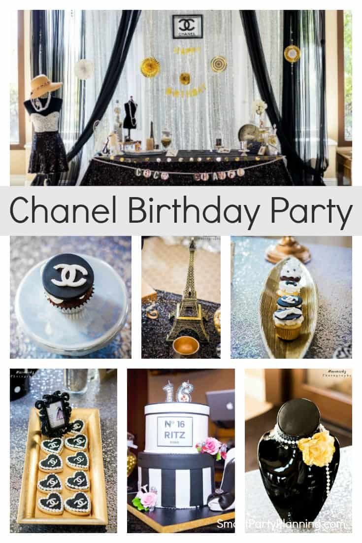 Awesome Sweet 16 Chanel Birthday Party