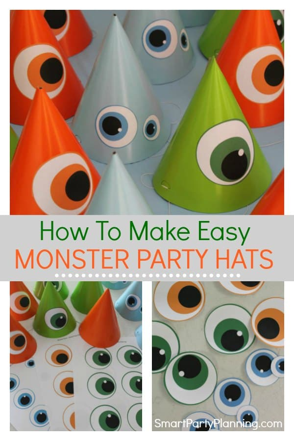 How to make easy monster party hats