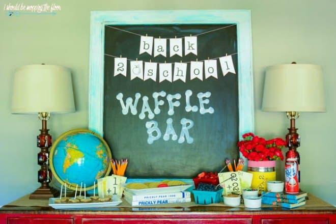 Back to school waffle bar