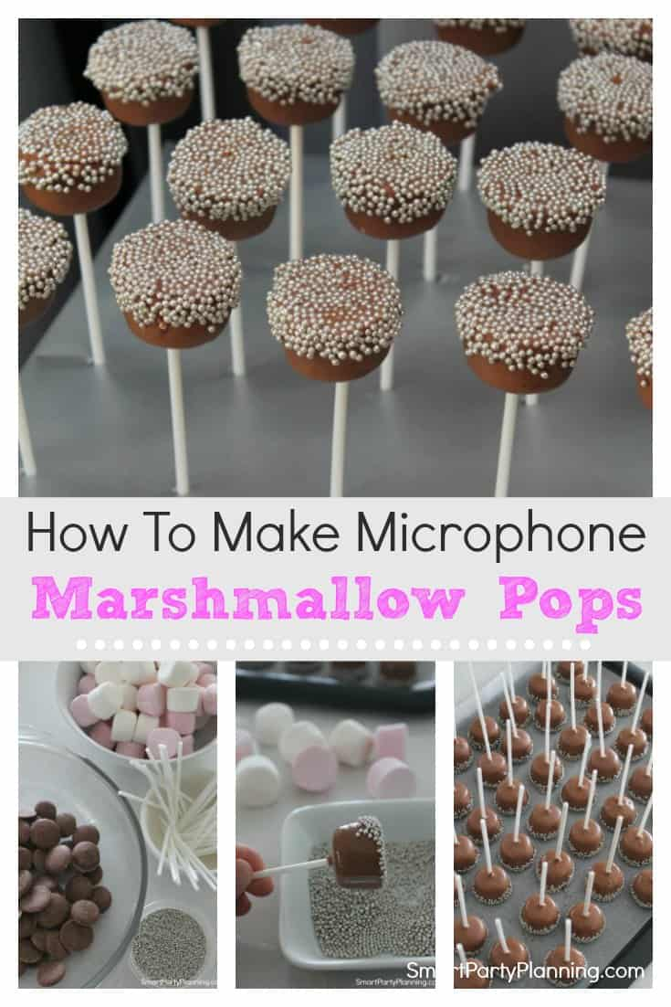 Microphone marshmallow pops