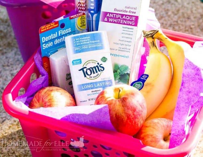 Survival gift basket for teachers