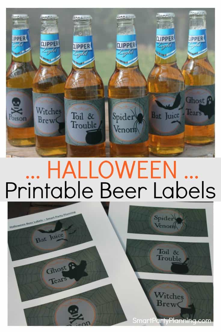 Printable Halloween Beer Labels
