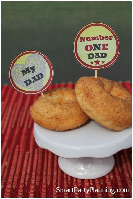 Retro Fathers Day Cupcake Toppers