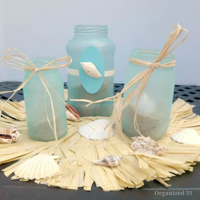 DIY Beach Glass Lanterns
