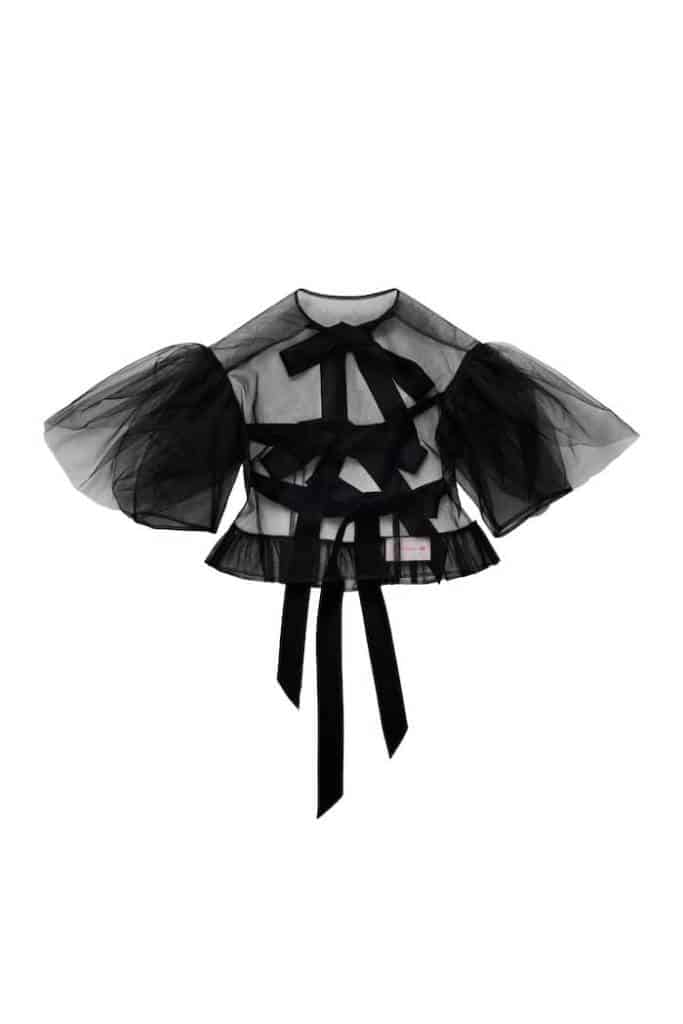 Puff-sleeved Tulle Top, £39.99, Simone Rocha x H&M