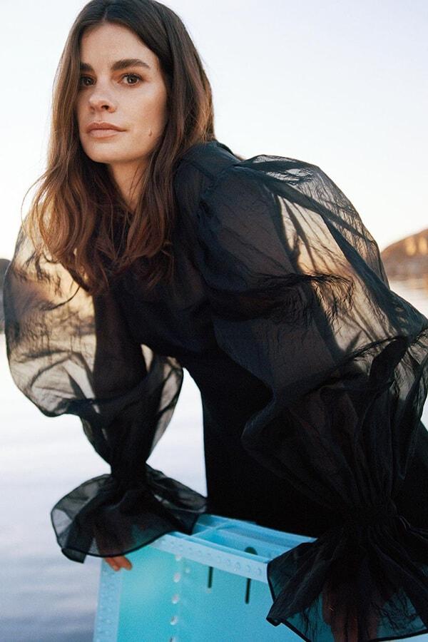 Rejina Pyo x & Other Stories collaboration black organza dress