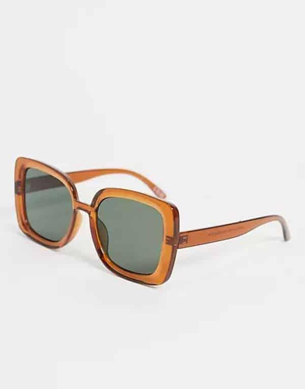 Oversized Bevelled Square Sunglasses ASOS