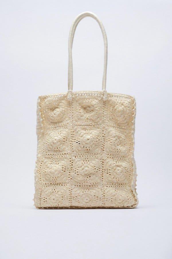 Zara Crochet Shopper Bag