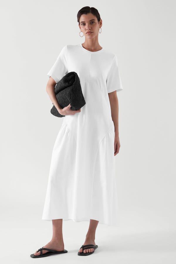 Pleated Long T-Shirt Dress COs