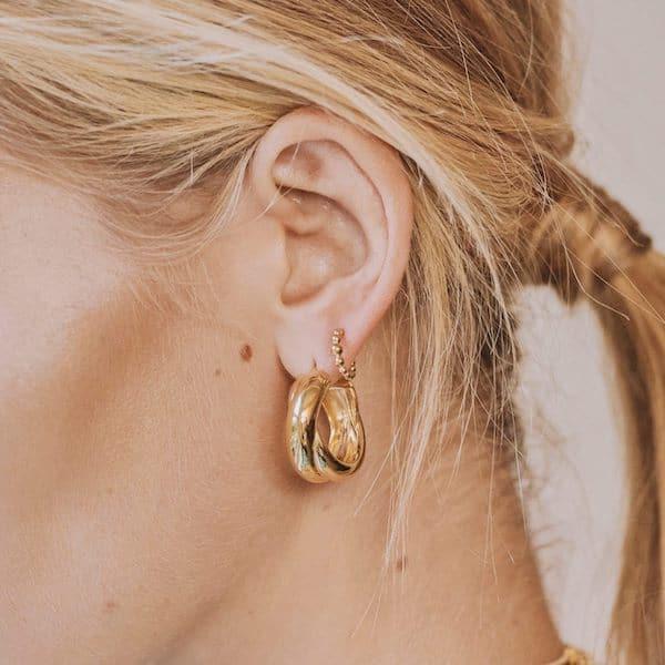 Missoma Lucy Williams Chunky Entwine Hoop Earrings