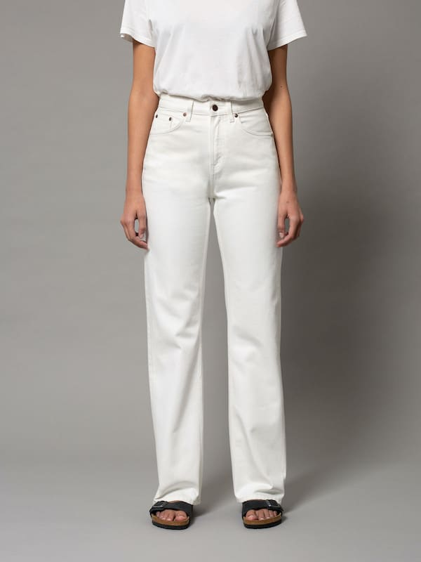 Nudie Jeans Co Clean Eileen Off-White Jeans