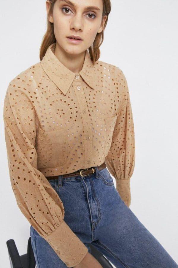 Warehouse Broderie Shirt