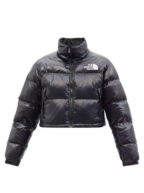 The North Face Nuptse Cropped Quilted Down Jacket