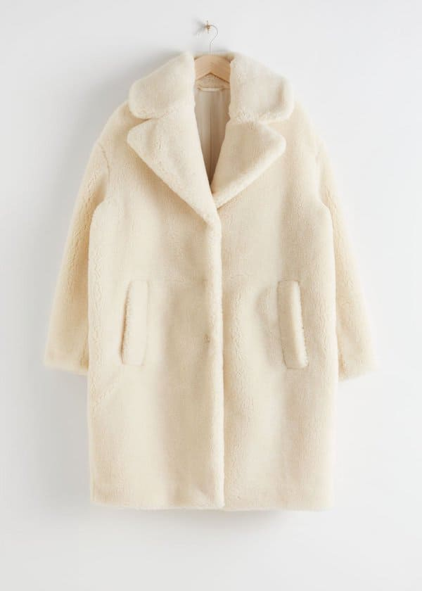 Oversized Faux Shearling Coat