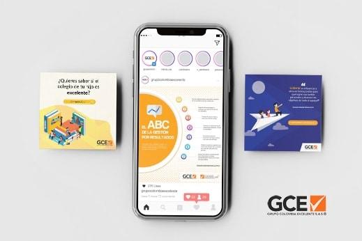 Piezas Digitales de Grupo Colombia Esxcelente