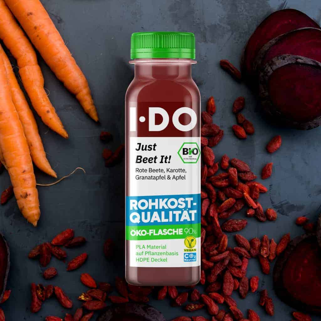 I·DO Just Beet It!, Rote Beete Saft in der Öko-Flasche 90%