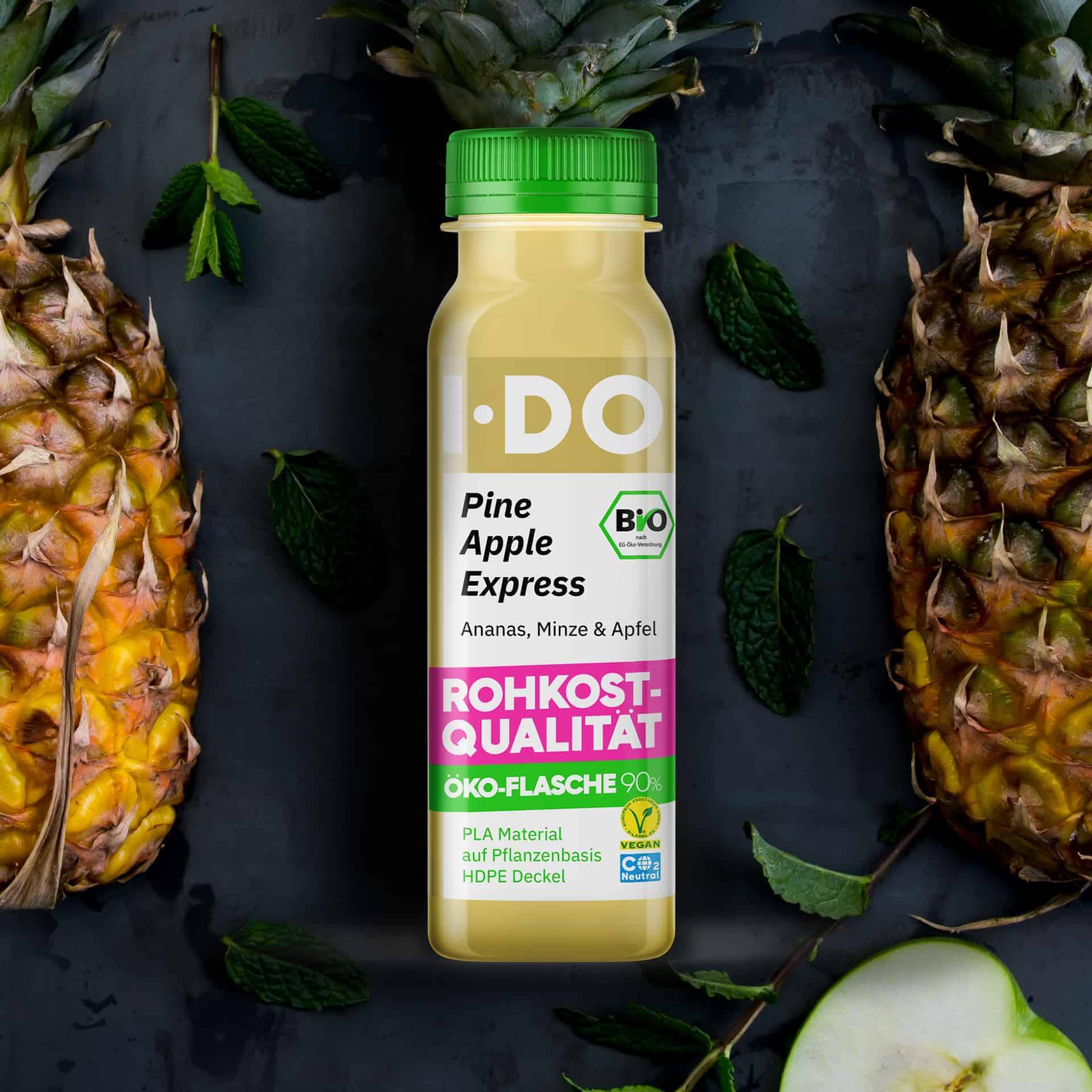 I·DO Pineapple Express, Ananassaft in der Öko-Flasche 90%