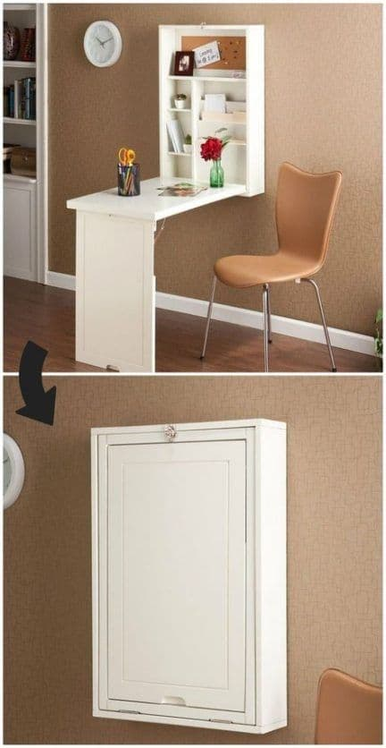 Small desk space Ideas Under $200 This is great Ideas if you have very small space. And this cost some $150