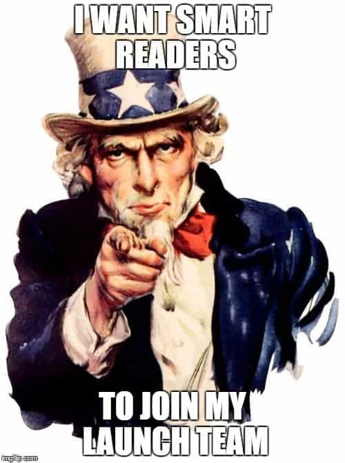 Uncle Sam: I want you to join my launch team