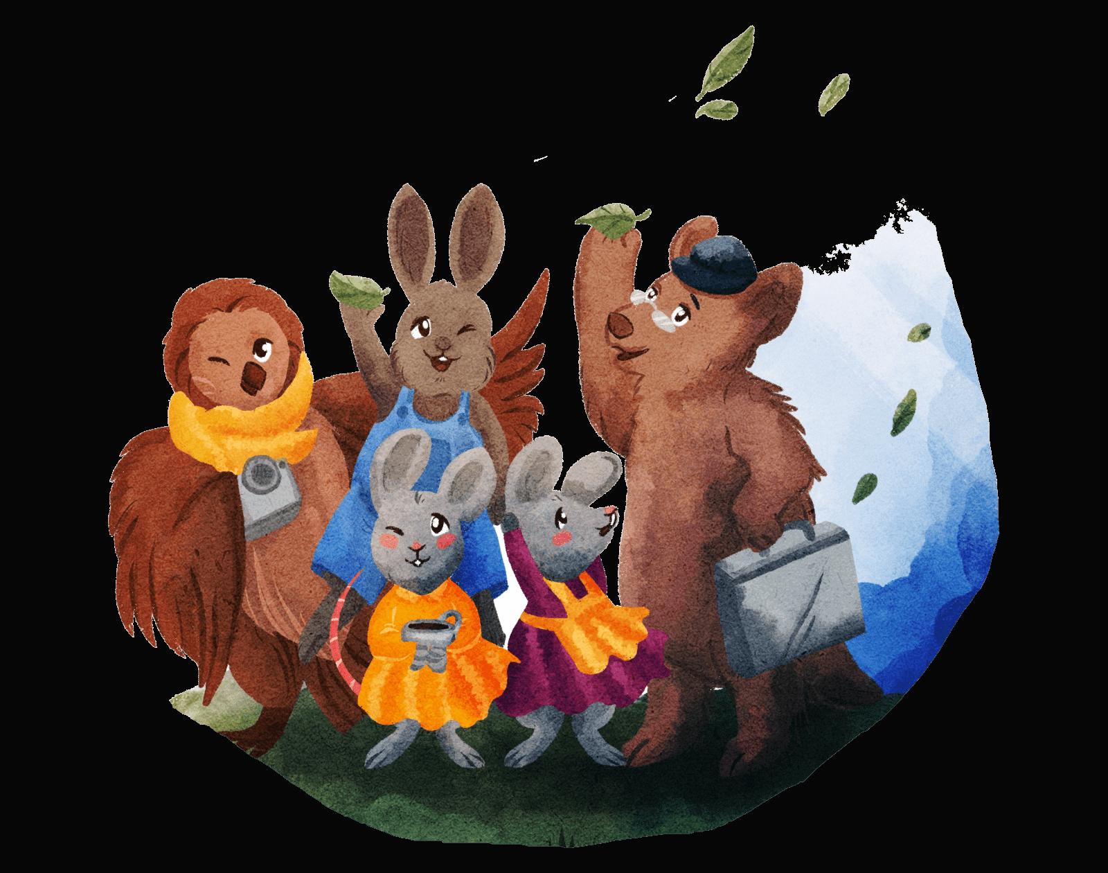 Livre pour enfants avec des animaux