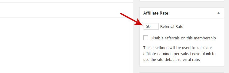 affiliate rate - How to set up commissions in AffiliateWP and MemberPress