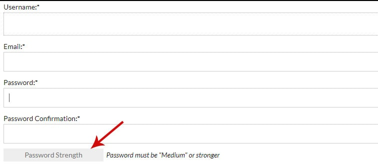 password strength 1 - How to style the MemberPress password strength indicator