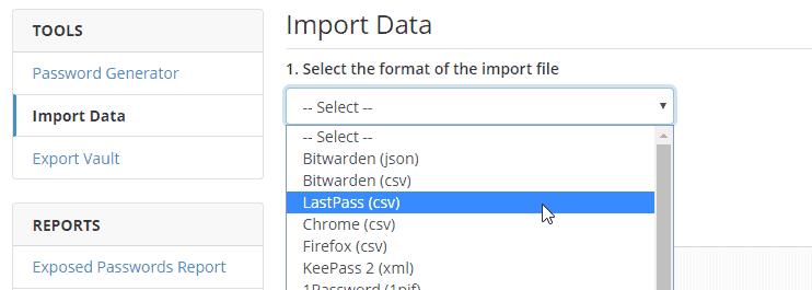 import data   bitwarden web vault google chrome 2 - LastPass VS Bitwarden: The Exodus