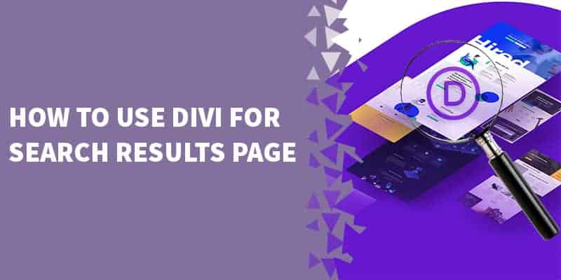 How to use Divi for Search results page