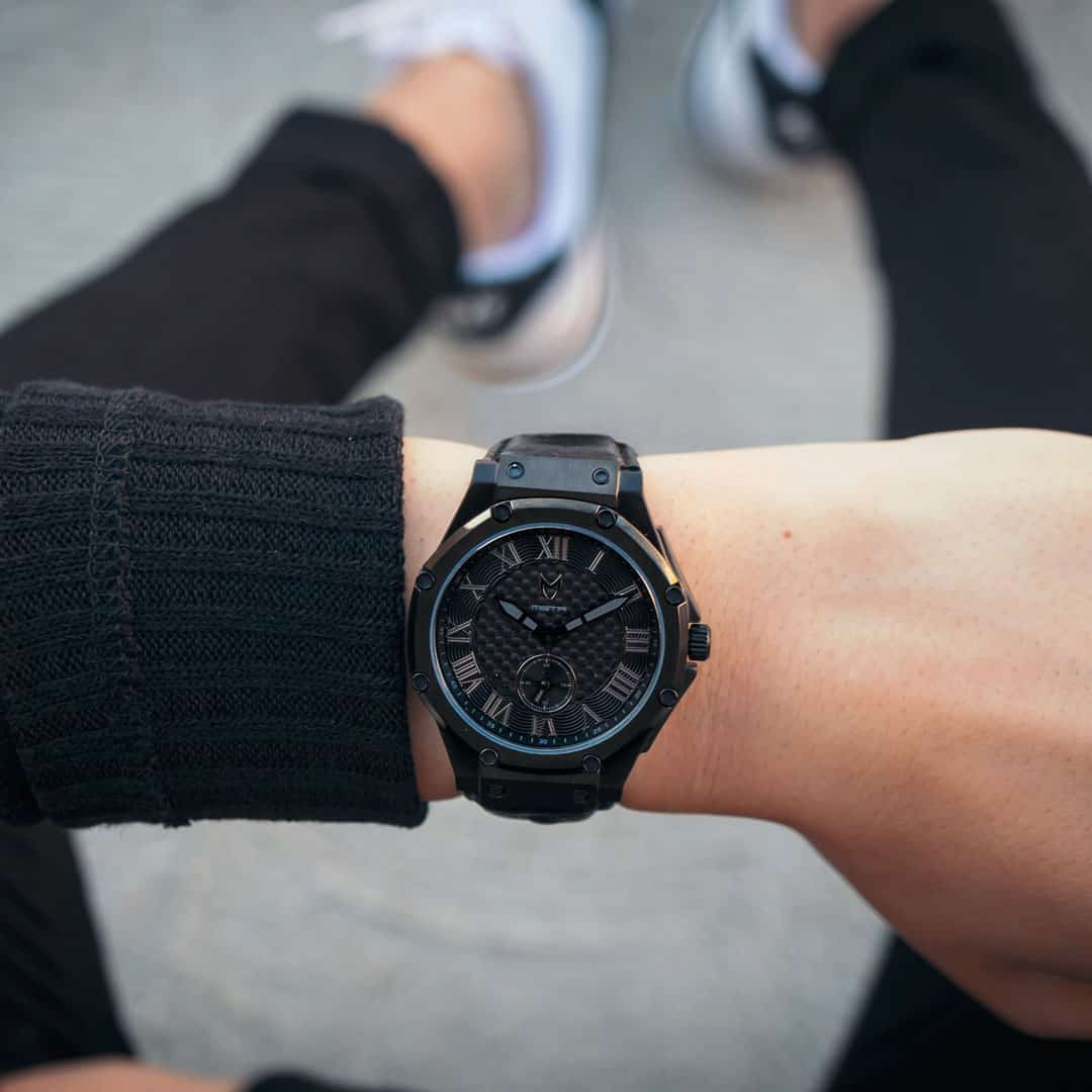 Carbon Zwart - Leer