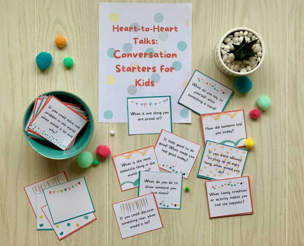Heart-to-Heart Talks: 68 Conversation Starters for Kids 1